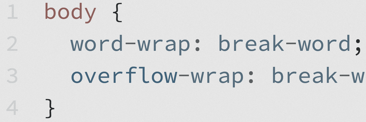 Example of non-wrapping code