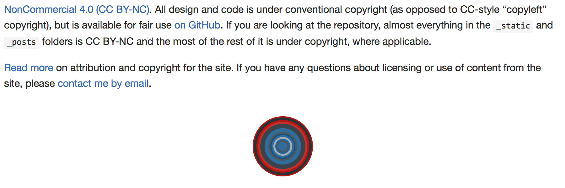 circular logo below readme text as rendered on a GitHub project page